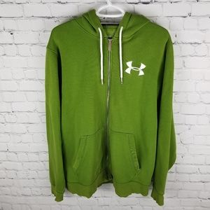 UNDER ARMOUR   waffle knit lined hood zip hoodie